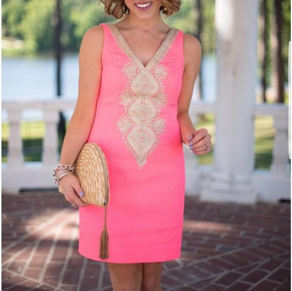 f07a4f729b3a61 Lilly Pulitzer Dresses   Hot Pink Junie Shift Dress   Poshmark